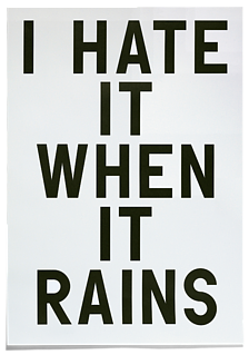 I Hate It When It Rains